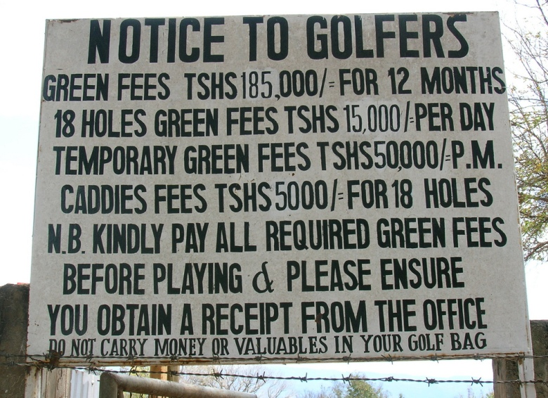 moshi golf club greenfees